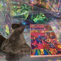 Vintage Lisa Frank JUMBO Puzzle Sticker Sheet SEALED Hollywood Bear RARE HTF image 6