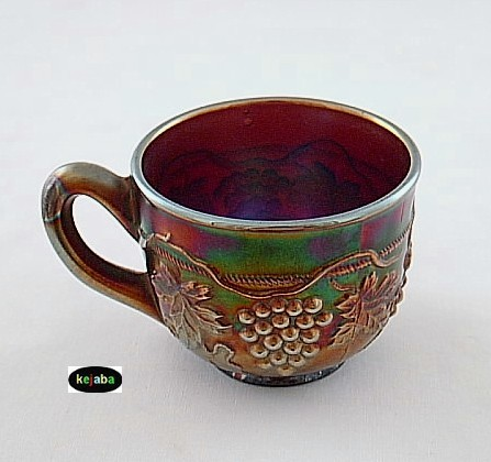 Northwood Carnival Grape and Cable Amethyst Cup no. 6