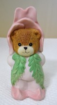"""1989 Lucy Rigg Lucy & Me Enesco Pink Rose Flower Bear 3 1/4""""  - $24.26"""