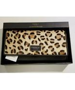 OSPREY London Leather Matinee Purse Clutch Wallet NWT Julia Lrg Leopard ... - $44.99