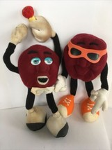 applause california raisins Bendable 4  Soft & 4 Rubber & 1 Windup Late 1980's - $17.58