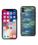 REIKO IPHONE X EMBOSSED WOOD PATTERN DESIGN TPU CASE WITH MULTI-LETTER - $9.80