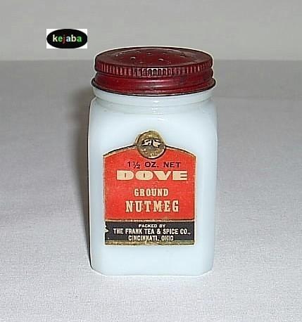 Dutch Scene W/Red Diamond Nutmeg Spice Shaker Depression Era