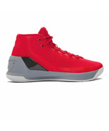 Under Armour UA Curry 3 Davidson Red Grey 1269279 600 Msrp $150 men's 12... - $89.99