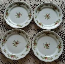 "Johann Haviland ~ Moss Rose ~ Set of 4 ~ 7.75"" Salad Plates ~ Bavaria Germany  - $50.00"