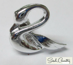 Vintage Sarah Coventry  Jewelry - #6042  Swan Scatter Pin - $11.58
