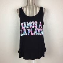 Womens Arizona Jean Co Cross Back Vamos A La Playa Graphic Print Tank Size XL - $9.49