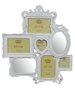 Biscottini Multiple Resin Made Antiqued White Finish Photo W47xDP2,5xH49... - $87.60