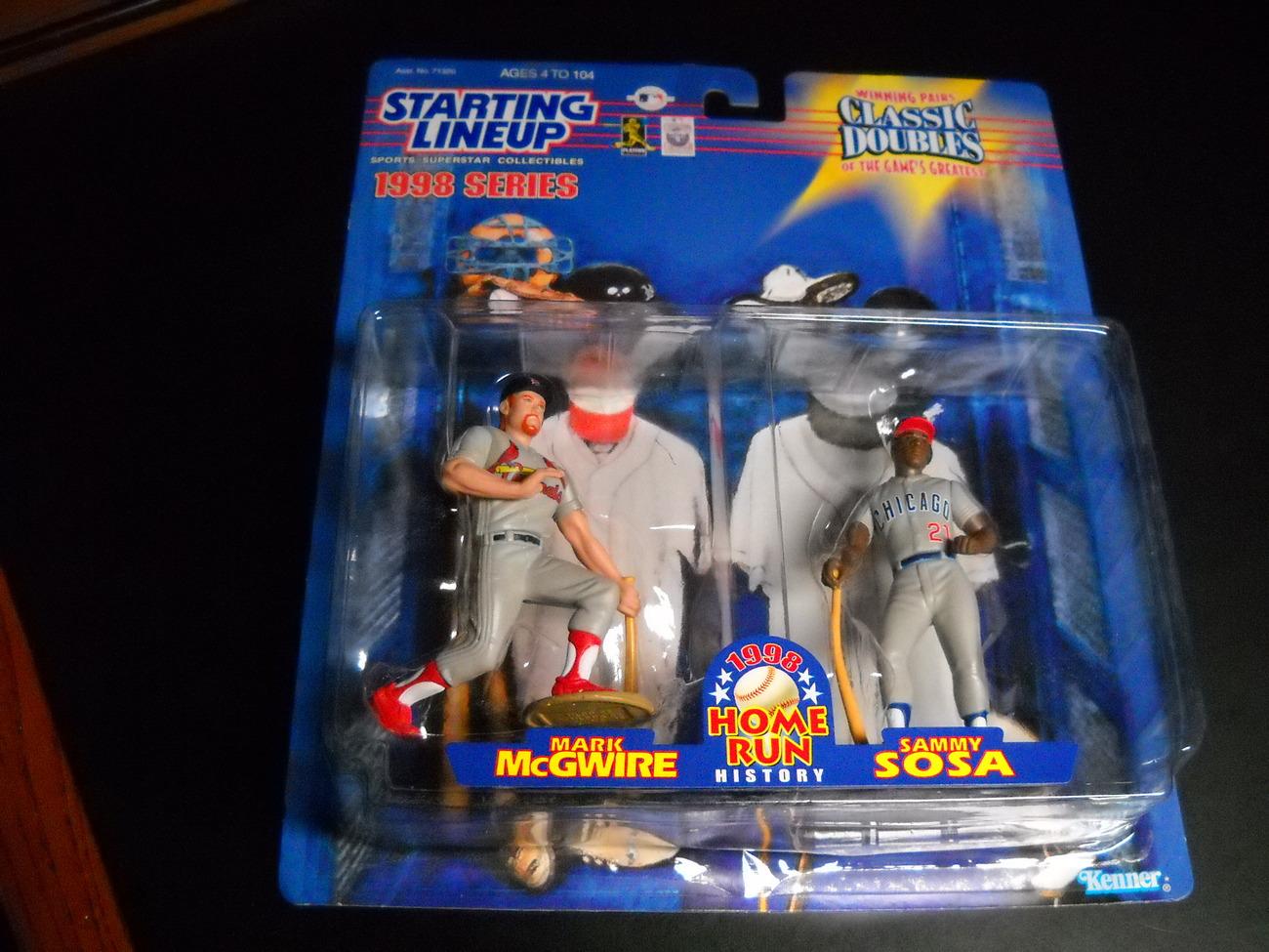 Sport memorabilia starting lineup 1998 series mcgwire   sosa 1998 01