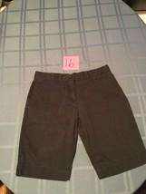 Girls-Size 16 Regular-Izod-dark blue long shorts uniform/school-flat front - $10.45