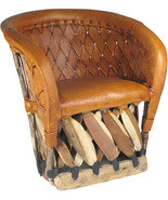 """Mexican Equipal Armchair """"Los angeles"""" - $550.00"""