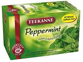 Teekanne Tea, Peppermint Herb, 20 Teabags (Pack of 6) - $26.72