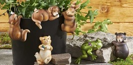 Set of 6 Animal Pot Huggers -Bear, Cat, Rabbit, Squirrel, Dog, Frog, New