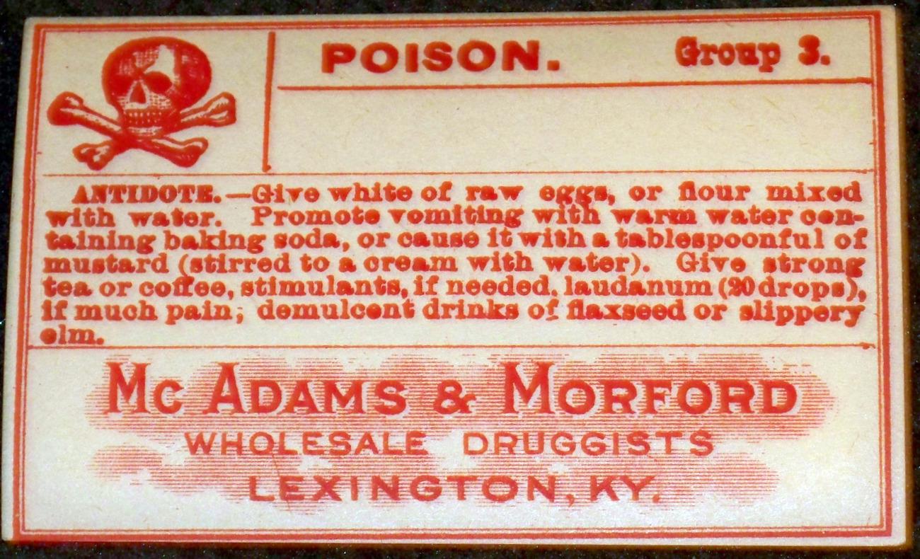 Skull and Crossbones! Poison Label, 1920's