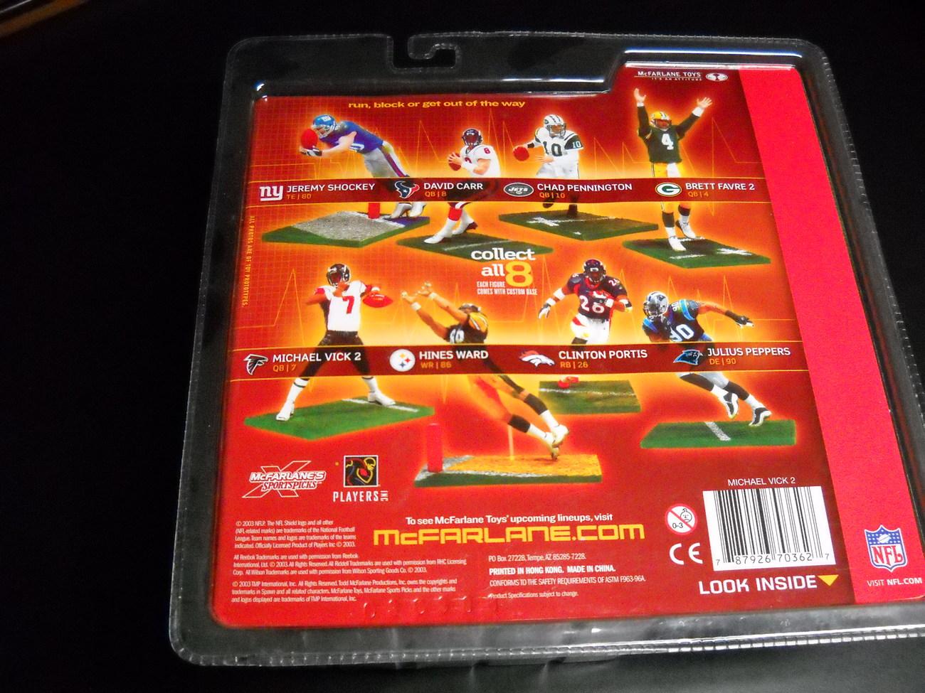 Football McFarlane Toys Quarterback Michael Vick Atlanta Falcons NFC South