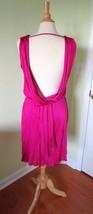 NWT Express Backless Dress Loose Fit Dark Pink Fuchsia Women's Size X Small XS - $32.69