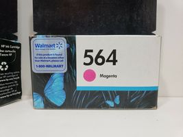 HP 564 3 Ink Cartridges. 2 Expired 2018, 1 Expires Feb. 2019. Factory Sealed image 7
