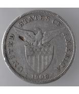 U.S Philippines 1909s, One (1) Peso Silver Coin  - $70.40