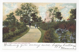 Lancaster PA Long Park Scene Souvenir Post Card Co Vintage UND Postcard - $4.99