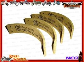 "HIGH QUALITY 6.5"" REAR BRAKE SHOE LINING KIT #3811326 BRAND NEW @ BULLET... - $41.99"