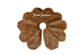 5' Scallop Black Tip Tree Skirt Christmas Holiday Faux Fur Decor - $122.55