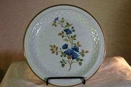 "Nikko Colorstone Blue Flowers Brown Trim Salad Plate 7 1/2"" - $4.15"