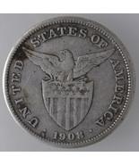 U.S Philippines 1908s, One (1) Peso Silver Coin  - $70.40