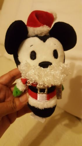 "Primary image for Hallmark Itty Bittys Disney Mickey Mouse Small Plush 5"" red hat beard pre-owned"
