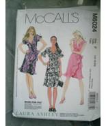 McCall's #M6024 Laura Ashley Wrap Dress 16 18 20 Pattern Uncut - $12.86