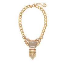 J.Crew Womens STATEMENT STONE FRINGE NECKLACE~*Natural*~NWT - $49.00