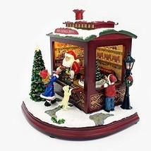 Gift For Christmas Santas Train Shop Musical LED Light Up Christmas Figu... - $255.63