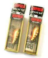 Lot of 2 Old Stock Normark Rapala Mini Fat Rap MFR-3 Crawdad Fishing Lur... - £18.13 GBP