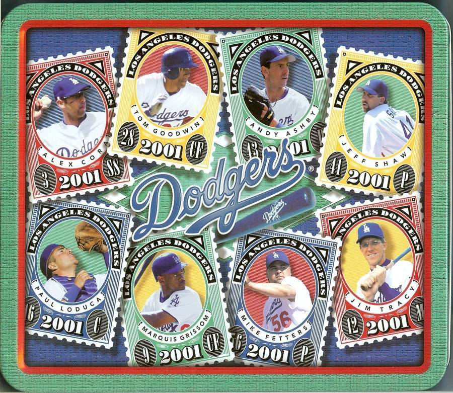 2001 dodgers farmer johns lunch box stamps metal rare - $24.99
