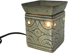 Green Square Wax Tall Lighted Burner Scentsy Full Size Warmer LENO (DSW-... - $29.99