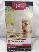 New Better Homes Beverage Dispenser Infuser 2 Piece Set BBQ Picnic - $11.99