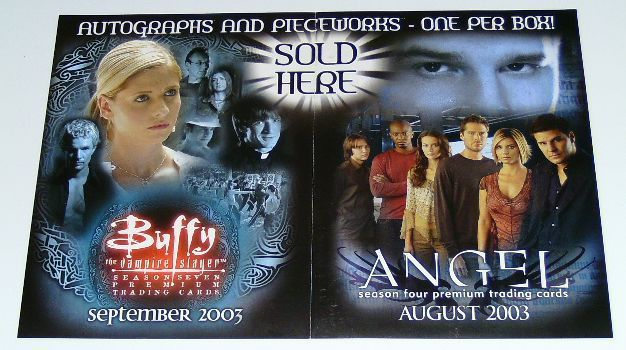 BUFFY THE VAMPIRE SLAYER/ANGEL TRADING CARDS PROMO POSTER
