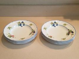 """Set of 8 Villeroy & Boch 1748 """"Cottage"""" Design Salad Bowls Made In Germany - $193.05"""