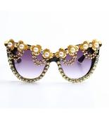 New Fashion Sunglasses Women Bling Rhinestone Oversized Sunglasses Aviat... - $29.99