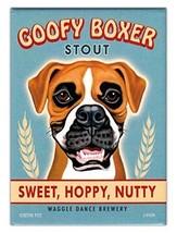 Retro Dogs Refrigerator Magnets - Goofy Boxer Stout - Vintage Advertisin... - €7,51 EUR
