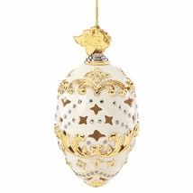 Lenox 2015 Annual Egg Shell Ornament Pierced Year Dated Christmas Gift NEW - $80.00
