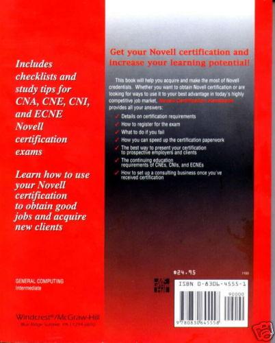 The Novell Certification Handbook by John Mueller, R...