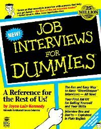 Job Interviews for Dummies by Joyce Lain Kennedy (19...