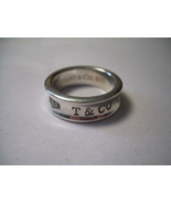 TIFFANY & CO 1837 Ring size 6.5 unisex 925 silver *USED*  - $50.00