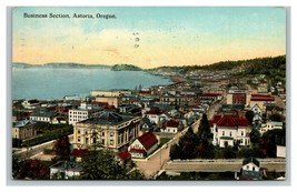 Vintage Early 1900's Postcard Astoria Business District Oregon Posted - $15.81