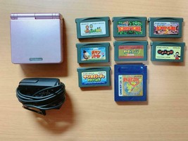 Nintendo Game Boy Advance SP + 9 software sets Video Game From Japan Off... - $108.89