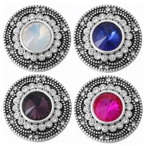 6pcs/lot New Crystal Round Snap Button Accessories Fit 18mm DIY Snap Bra... - $15.37