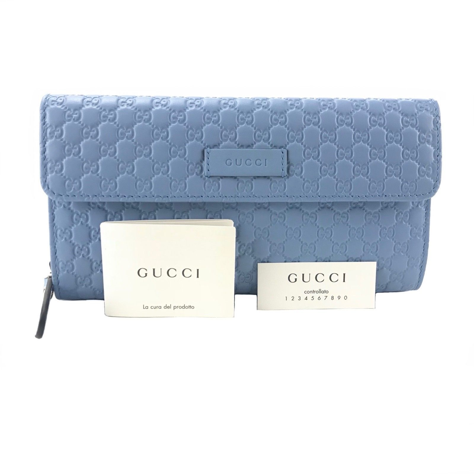 eb6e86e020c9 GUCCI 449364 Microguccissima Blue Leather and 50 similar items