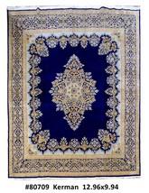 Foyer Handmade Rug 10x13 Persian Kerman Carpet - $1,797.54