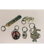 5 Retro Keychains Magic Wand Peace Sign Friends Forever Hersey's Kiss Ba... - $18.00