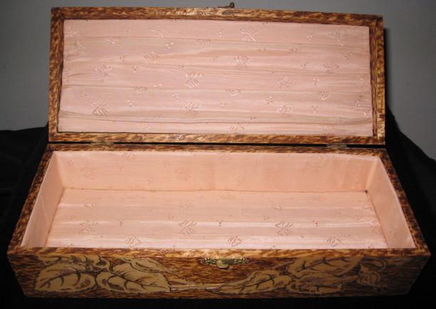 Antique Wooden Glove Box
